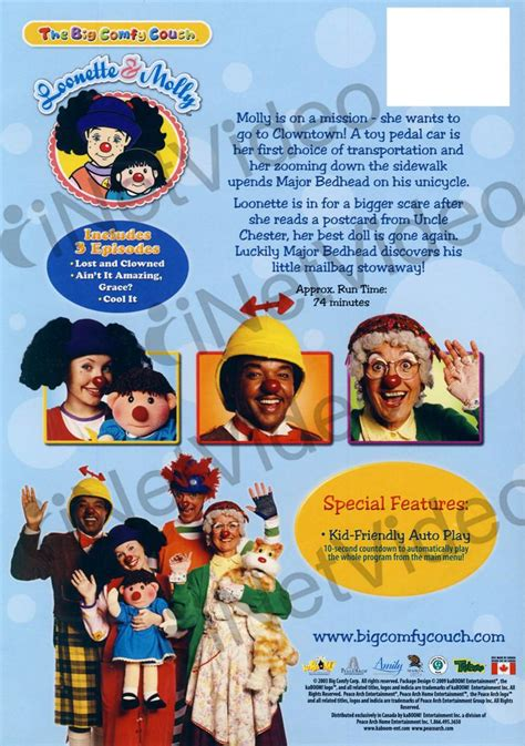 the big comfy couch games the big comfy couch lost and clowned on dvd movie
