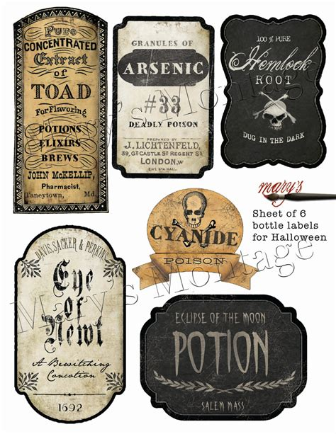 printable drink labels halloween bottle labels download print by marysmontage