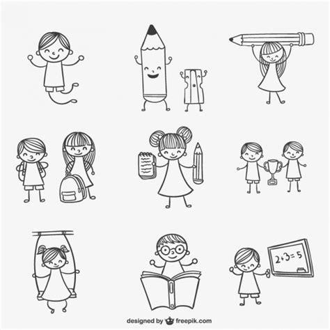 kid doodle vector free school doodles vector free