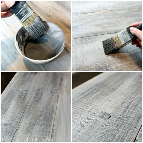 lovely crafty home tutorial painting fake wood how to make new lumber look like weathered barnwood for