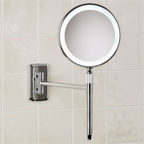 lighted bathroom mirrors magnifying lighted vanity mirror lighted bathroom mirror wall mount