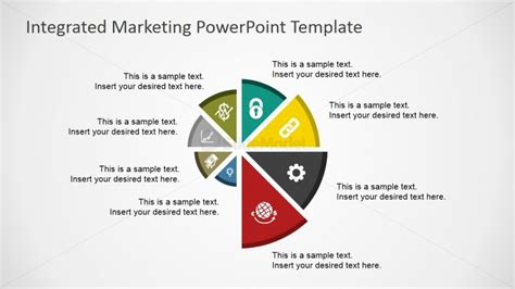 integrated marketing communications plan template flat spyral chart for powerpoint slidemodel
