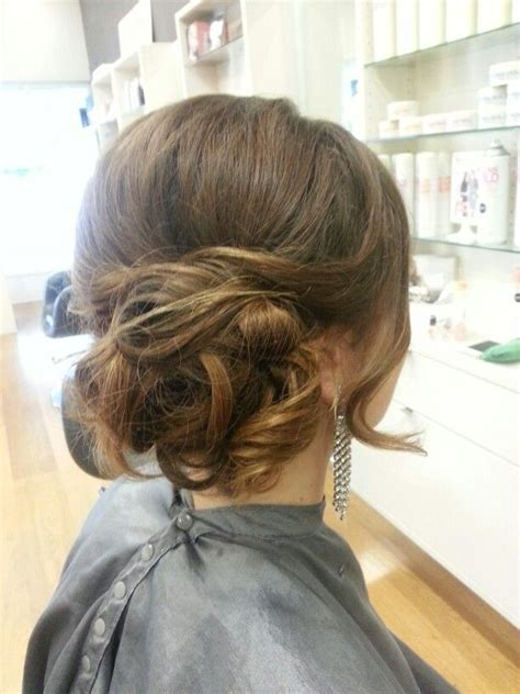 formal hairstyles bun curly side bun formal hair by me pinterest buns