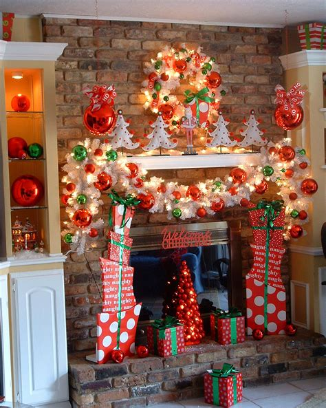 cute printable christmas decorations add fire to the fireplace area with mesmerizing decoration