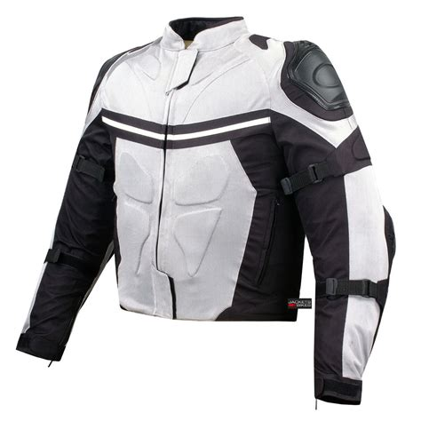 white motorbike jacket mesh motorcycle jacket street riding rain waterproof white