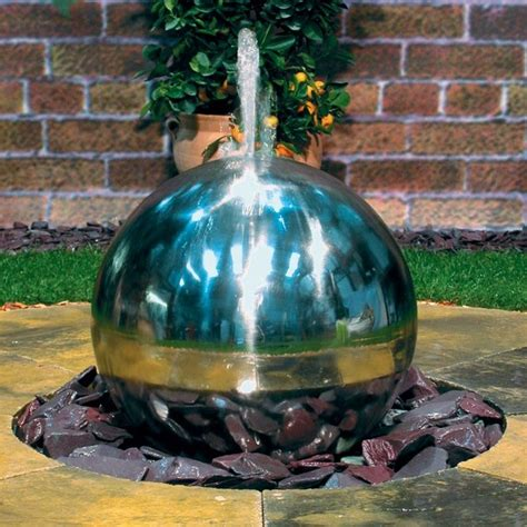 Exotic water designs sphere fountain contemporary outdoor fountains and ponds by outdoor