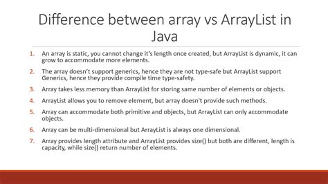 what is a template in java 9 difference between array vs arraylist in java