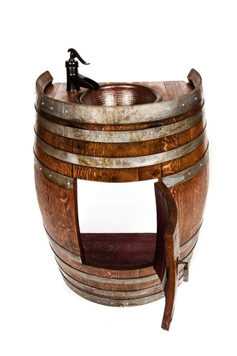 25 best ideas about wine barrel sink on