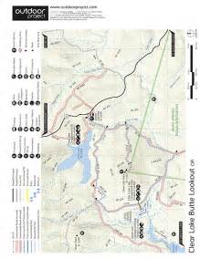 clear lake oregon map clear lake butte lookout outdoor project
