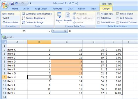remove table format excel 2007 show or hide table formatting elements table format