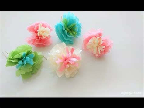 How To Make Mini Paper Flowers - how to make mini tissue paper flowers