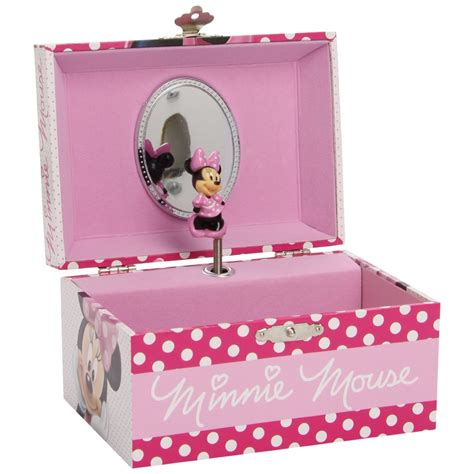 Minnie Mouse Box pink disney minnie mouse musical jewellery