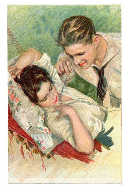 imagenes antiguas de amor parejas postales antiguas