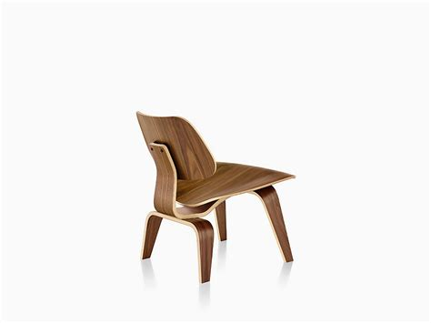 Eames Molded Plywood Lounge Chair by Eames Molded Plywood Lounge Chair With Wood Base Herman