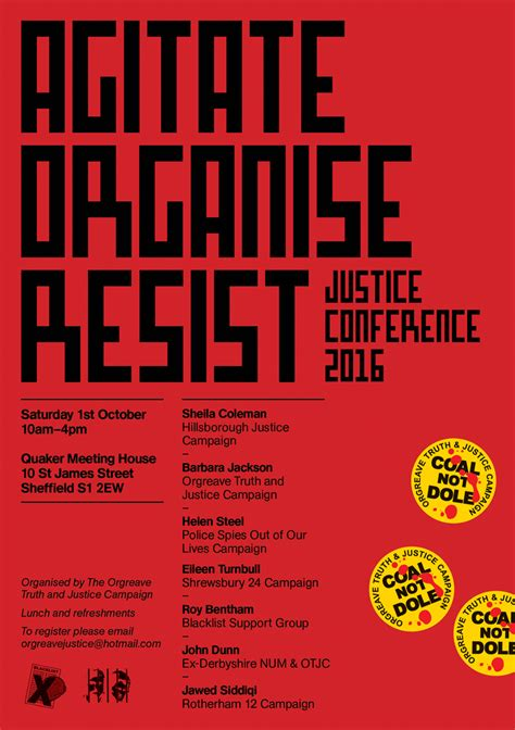flyer design oldham 32 years no justice orgreave and the power of graphic