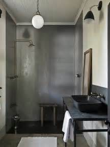 Industrial Modern Bathroom Decor Tadelakt Shower Modern Bathroom The Satyagraha House