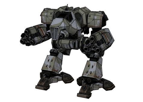 Mechwarrior Papercraft - mechwarrior 4 mektek supernova free mech paper model