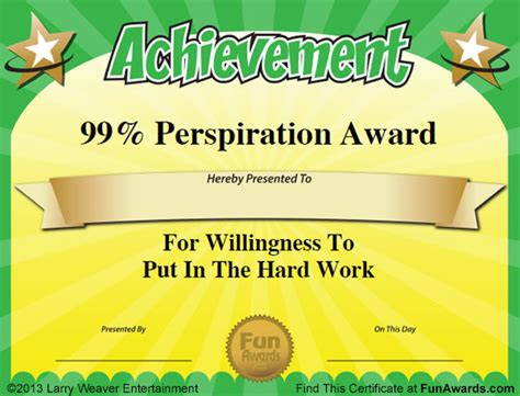 silly certificates awards templates awards 101 printable certificates