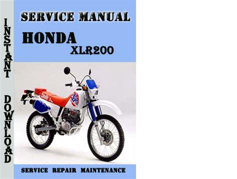 honda xlr200 service repair manual pdf