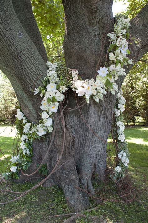 tree decorations wedding talk oak tree flower garland