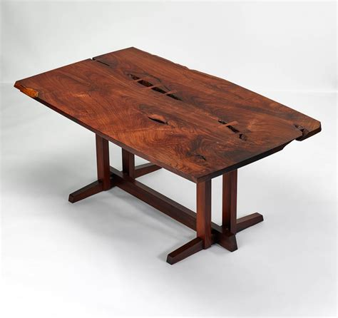 Early American Dining Room Furniture by George Nakashima Rosewood Quot Single Board Quot Table For Sale At