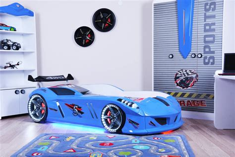 blue race car bed thunder race car bed blue car bed shop kids bed shop