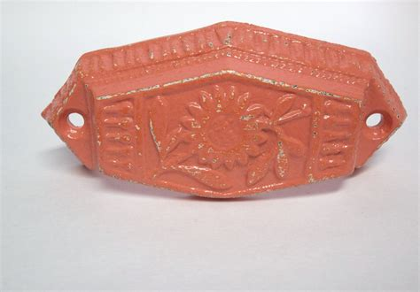 Coral Drawer by Shabby Chic Drawer Pulls Coral Hardware Cast Iron Pulls