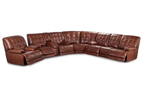 Leather Sectional Power Recliner by Westport Leather Power Reclining Sectional