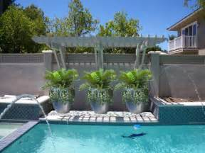 pool planters ideas for our new house pinterest