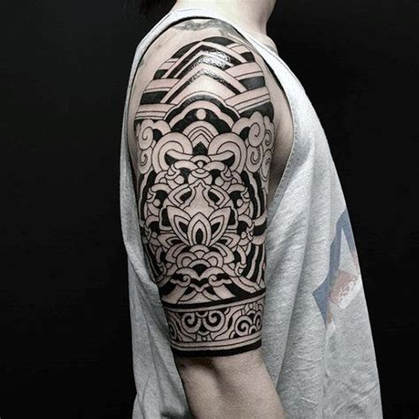 tattoos for mens arms designs 75 tribal arm tattoos for interwoven line design ideas