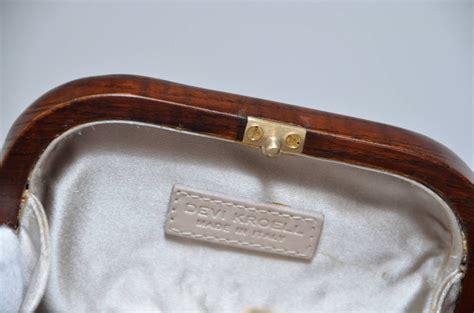 Devi Kroell Caviar Bag by Devi Kroell Wood Minaudi 232 Re Clutch Handbag At 1stdibs