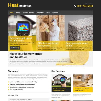home repairs website templates