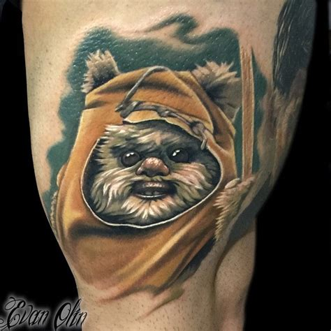 star wars tattoo design ewok wars thigh best design ideas