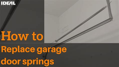 how to level garage door with extension springs tcworks org
