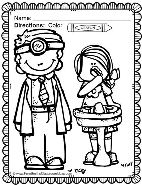 dental health month coloring page teach junkie