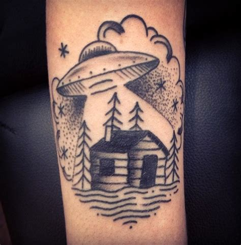 Old School Ufo Tattoo | ufo tattoos designs ideas and meaning tattoos for you