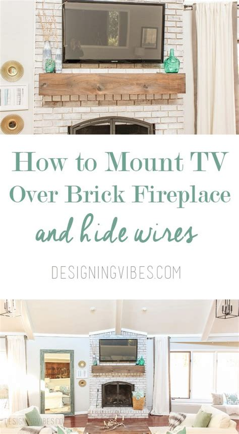 how to mount a tv a brick fireplace and hide the