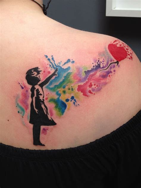 banksy tattoo banksy watercolour by toby harris fashion