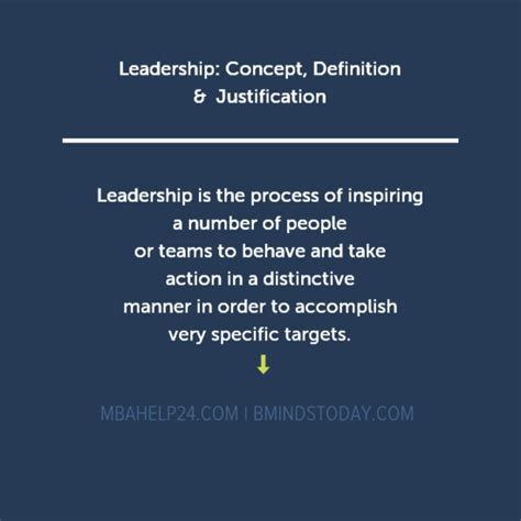 Mba Leadership And Management Meaning by Leadership Concept Definition Justification