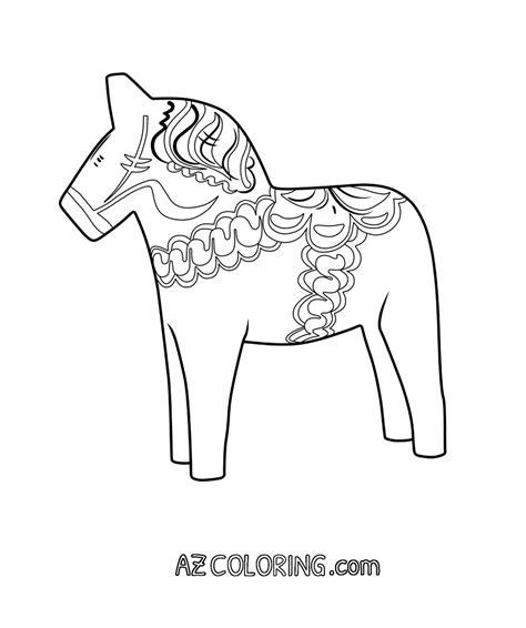 Dala Horse Coloring Page Coloring Home Dala Coloring Page
