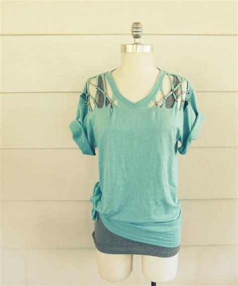 Tshirt Way Vol 4 C3 diy clothes diy refashion diy no sew lattice stud t