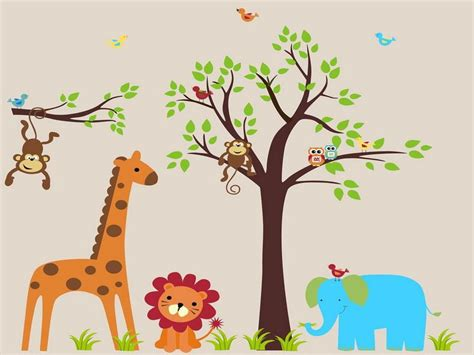 Jungle Wall Decals For Nursery Baby Jungle Animal Quotes Quotesgram