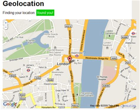 html geolocation tutorial html5 and exles new technology news
