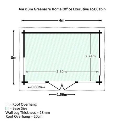 cabin dimensions 4 x 3 waltons home office director log cabin what shed