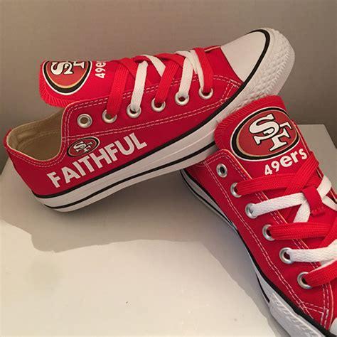 49ers shoes san francisco 49ers handmade converse san francisco 49ers