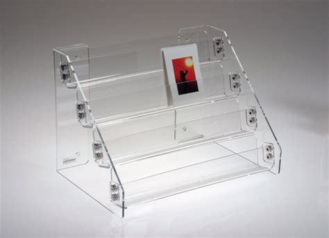 Rak Mini Acrylic greeting card holders rack and displays from clear solutions