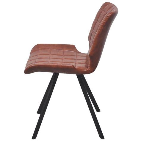 sedie similpelle sedia da pranzo in similpelle 2 pezzi colore marrone