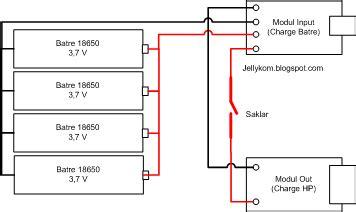 membuat powerbank menggunakan baterai laptop cara membuat powerbank rakitan batre laptop bekas 18650