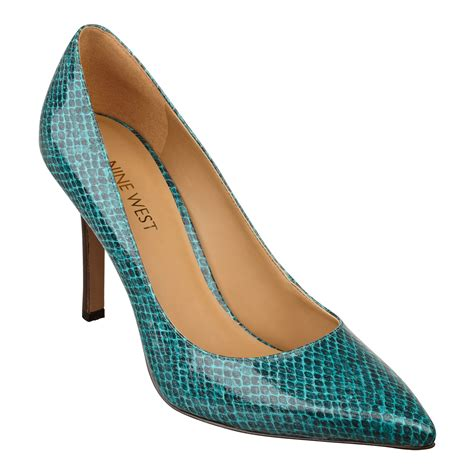 high heels nine west nine west martina high heel pumps in blue blue green