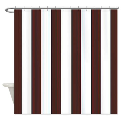 white striped shower curtain dark brown and white stripes shower curtain by